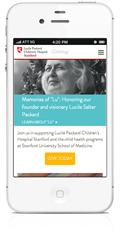 Mobile responsive website redesign for nonprofit foundation dedicated to children's health