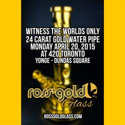 Ross' Gold(TM) Glass To Sell World's Only 24 Carat Gold  Water Pipe