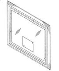 Framed Mirror with TV image