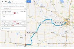 Minneapolis to Sioux Falls Route Example