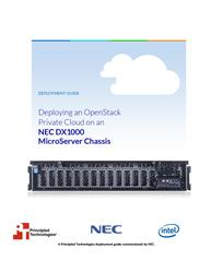Discover how to deploy an OpenStack Private Cloud on the NEC DX1000.