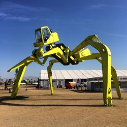 EarthMover by Maker Christian Ristow. Debuting at Maker Faire Bay Area 2015.