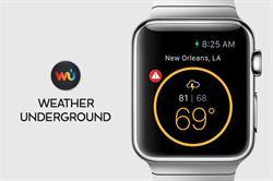 Weather Underground Apple Watch App