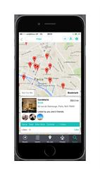 Search:Find friends' recommendations, both in your immediate proximity or in a selected location