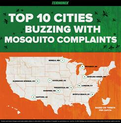 Terminix: Top 10 Cities Buzzing With Mosquito Complaints