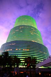 Downtown Miami Executive Suites at night, Premier Business Centers