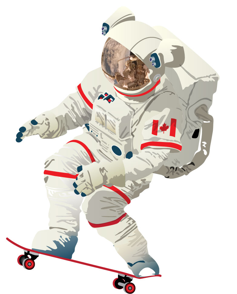 astronaut skateboarding - photo #5