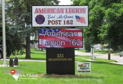 LED Sign for American Legion Post 162