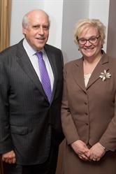 Dr. Sally Rockey with former Secretary of Agriculture and FFAR Board Chair Dan Glickman
