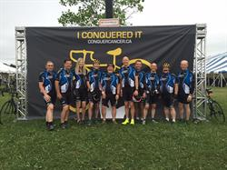 This past weekend, the PowerStream Ride to Conquer Cancer team rode over 200 kilometres, raising $51,818 in support of cancer research at Princess Margaret Cancer Centre.