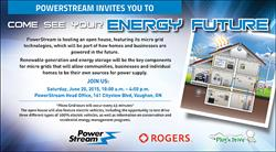 PowerStream invites you to come see your energy future on Saturday, June 20, 2015.