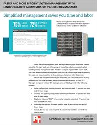 Automation with Lenovo XClarity Administrator can save you time and effort
