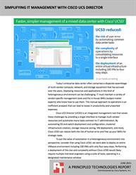 Cisco UCS Director used automation to simplify datacenter management.