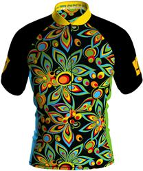 Loudmouth Men's Cycling Jersey in Shagadelic Black