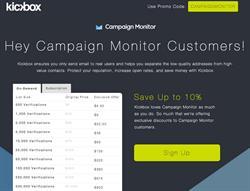 Kickbox - Campaign Monitor Integration