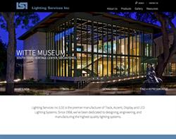 Responsive website design and development for Lighting Services Inc