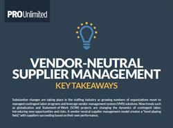Vendor-Neutral Supplier Management Infographic