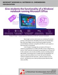 HP Stream 11 laptop running Windows 8 gives students the functionality of a Windows notebook running Microsoft Office