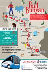 "Jefferson Lines ""Paul Bunyan"" bus route"