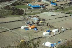 The village of Thame, Nepal, after the April and May 2015 earthquakes.