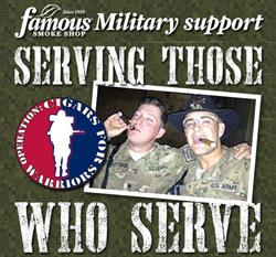 Famous Smoke Shop Ships July Cigar Donation to Operation: Cigars for Warriors