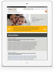 CMQCC Mobile Responsive Website - iPad View