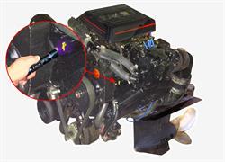 Detecting a leak in marine engine