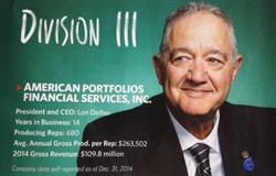 Lon T. Dolber, CEO and CIO American Portfolios Financial Services, Inc.