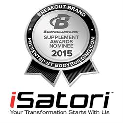 iSatori Nominated for Breakout Brand of the Year by Bodybuilding.com