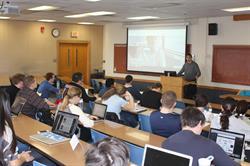 Jake Schaufeld in classroom