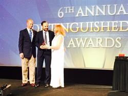 Dan Bressler accepts ILTA Award
