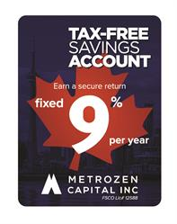 TFSA, Metrozen, TFSA investment, TFSA return, Metrozen Capital, 9 percent