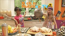 Reyna and Stacy co-hosts of KickinNutrition.TV cookin' up a Sizzlin' Healthy Recipe!