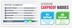 CarProof is launching badges in an effort to simplify the way used car information is presented to the public on its report and online.