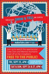 World Maker Faire 2015 Coke Zero & Mentos Show at the Unisphere, Sept 25-27