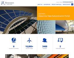 Rosendin Electric Website Design and Development