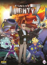 Stan Lee's Mighty 7 animated movie features an all-star cast with Sean Astin (The Lord of the Rings trilogy), Jim Belushi (The Defenders), Mayim Bialik (The Big Bang Theory), Darren Criss (Glee), Flea (of the rock band Red Hot Chili Peppers), Armie Hammer (The Lone Ranger), Teri Hatcher (Desperate Housewives), Michael Ironside (Transformers Prime Beast Hunters: Predacons Rising) and Christian Slater (Breaking In).