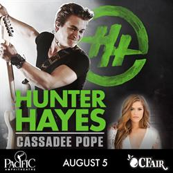 Hunter Hayes with special guest Cassadee Pope Live at the Pacific Amphitheatre