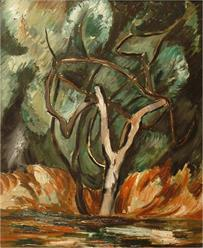 Marsden Hartley, Olive Trees, 1926, oil on wood panel. Gift of the Heller Foundation, Washington D.C