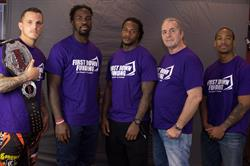 Micah Terrill, C.J. Mosley, Kendrick Lewis, Bret Hart and Courtney Tolson