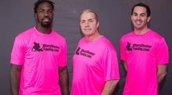 "C.J. Mosley, Bret ""Hitman"" Hart, Paul Pitcher"