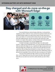 Surf the web longer with Microsoft Edge