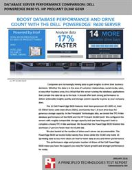 Save space and deliver analytics faster with the Dell PowerEdge R630