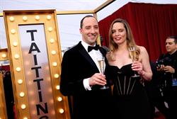 Tony Hale and Vitalie Taittinger Toast The 22nd Annual SAG Awards With Champagne Taittinger