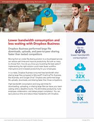 Dropbox Business used less bandwidth for large file downloads