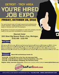 Detroit Area Job Fair - October 28
