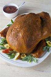 Spice-Rubbed Turkey with Garlic-Pear Purée