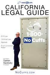 1.800.NoCuffs California Legal Guide is comprehensive free eBook addressing DUI and Criminal Law