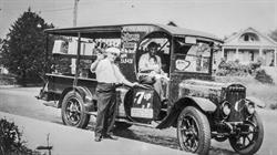 Portland Bottling Company founder Andrew Hrestu (seated), with eldest daughter Elaine, delivering 7-Up c. 1930. Industry veteran Ed Maletis purchased the historic company on Nov. 1, 2016. Photo courtesy of the Oregon Historical Society.