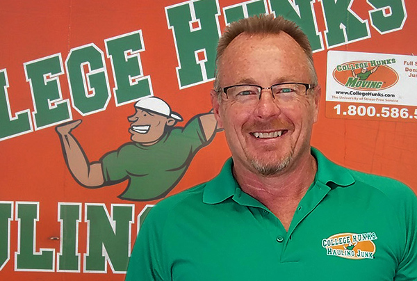College Hunks Hauling Junk franchisee Mike Slater